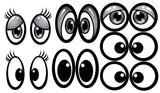STICKERS AA141   <br>Black & White Eyes