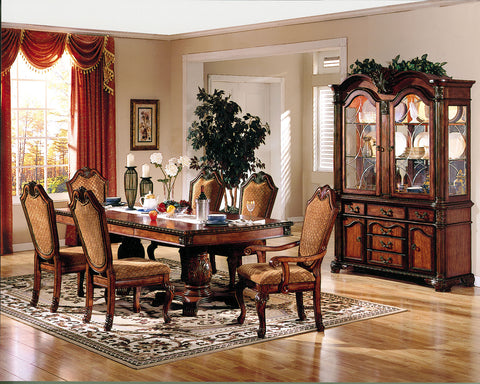 CARDIFF 5PCS ESPRESSO WOOD DINING TABLE SET AC06850