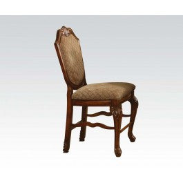 HAYLEE FOA-CM3193SC TRANSITIONAL WIRE-BRUSHED BROWN SIDE CHAIR SET OF 2
