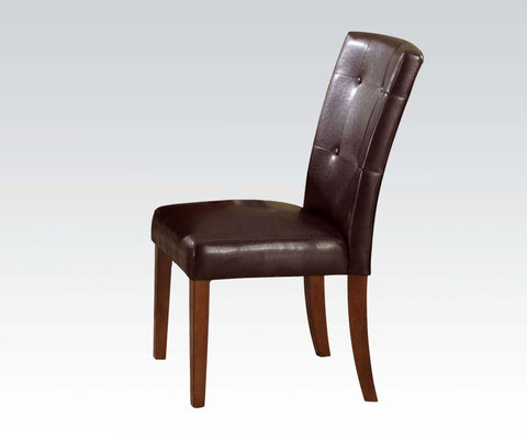 GLADSTONE I FOA-CM3823BK-SC CONTEMPORARY BLACK LEATHERETTE SIDE CHAIR