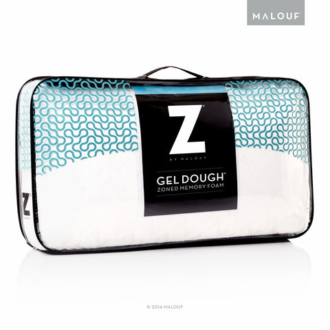 MALOUF ZONED GEL DOUGH MEMORY FOAM PILLOW