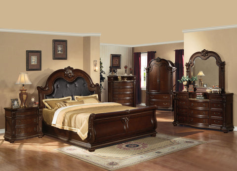 AC10310Q ANONDALE CHERRY PU BEDROOM SET 4PCS