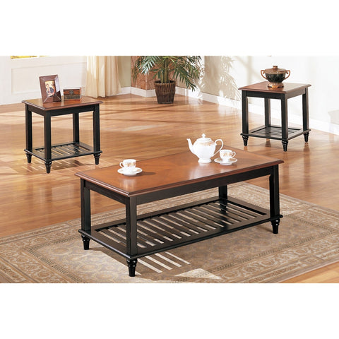 POUNDEX F3074 3-PCS COFFEE TABLE SET  sc 1 st  Sleep Collection Mattress : coffee table and side table set - pezcame.com