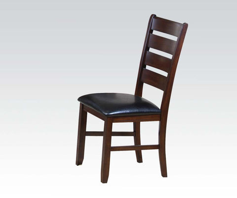 AC16774 BRITNEY DANVILLE BLACK PU DINING SIDE CHAIR SET OF 2