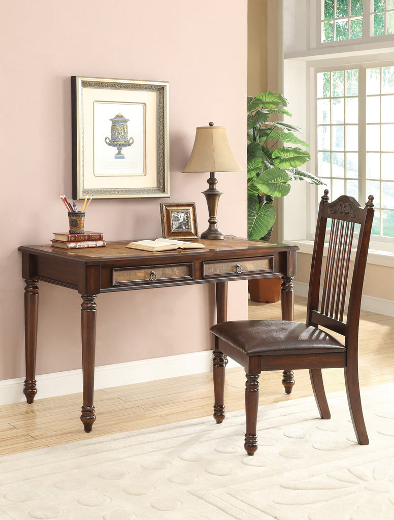 ct800079 cherry writing desk and chair set vans furniture rh sleepcollectionfurniture com howard writing desk and chair set queen anne writing desk and chair set