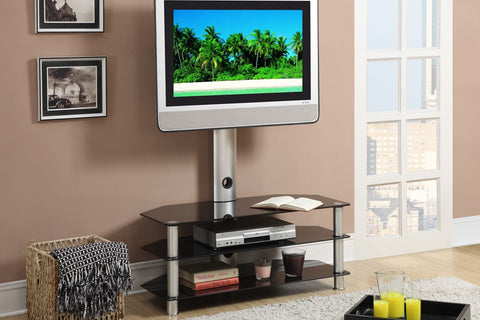 POUNDEX F4513 ESPRESSO TV STAND WITH SHELVES
