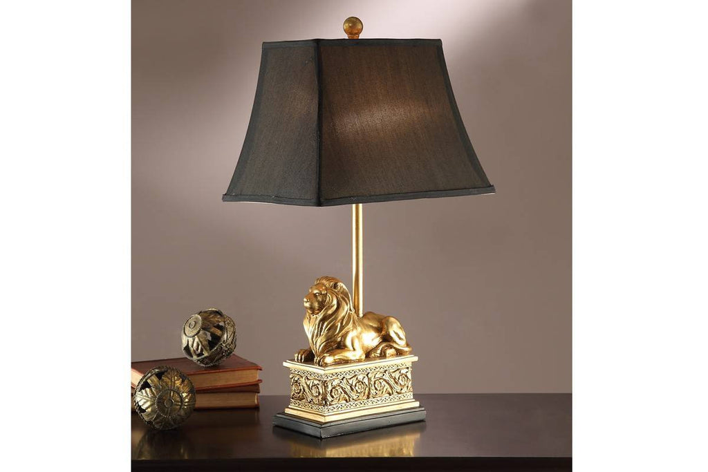 F5380 BLACK POLYRESIN LAMP SET OF 2