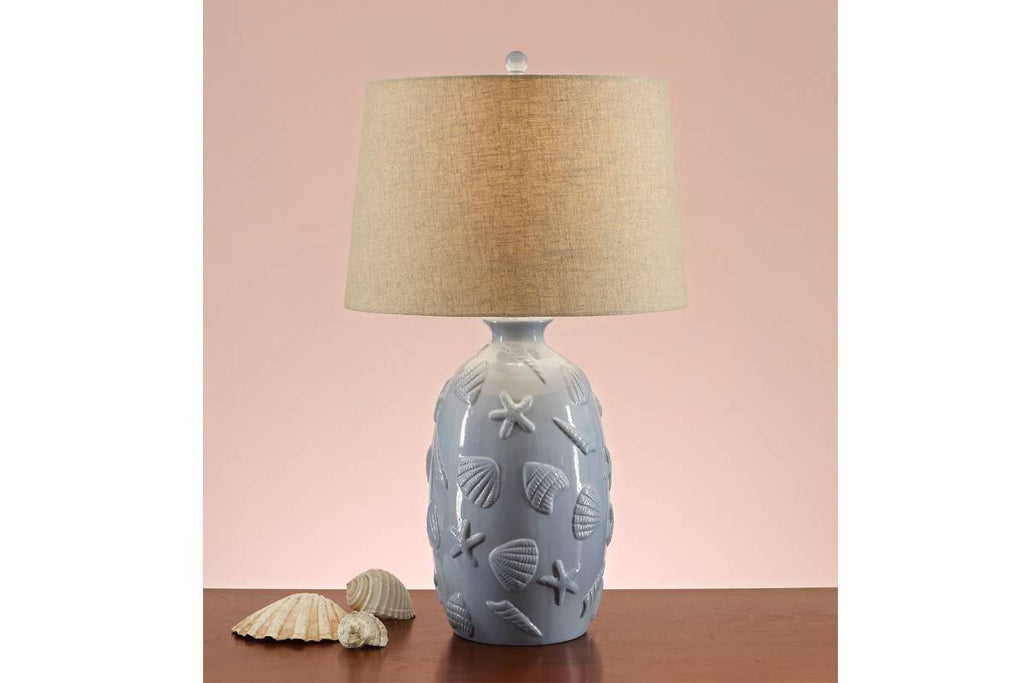 F5383 BLUE CERAMIC LAMP SET OF 2