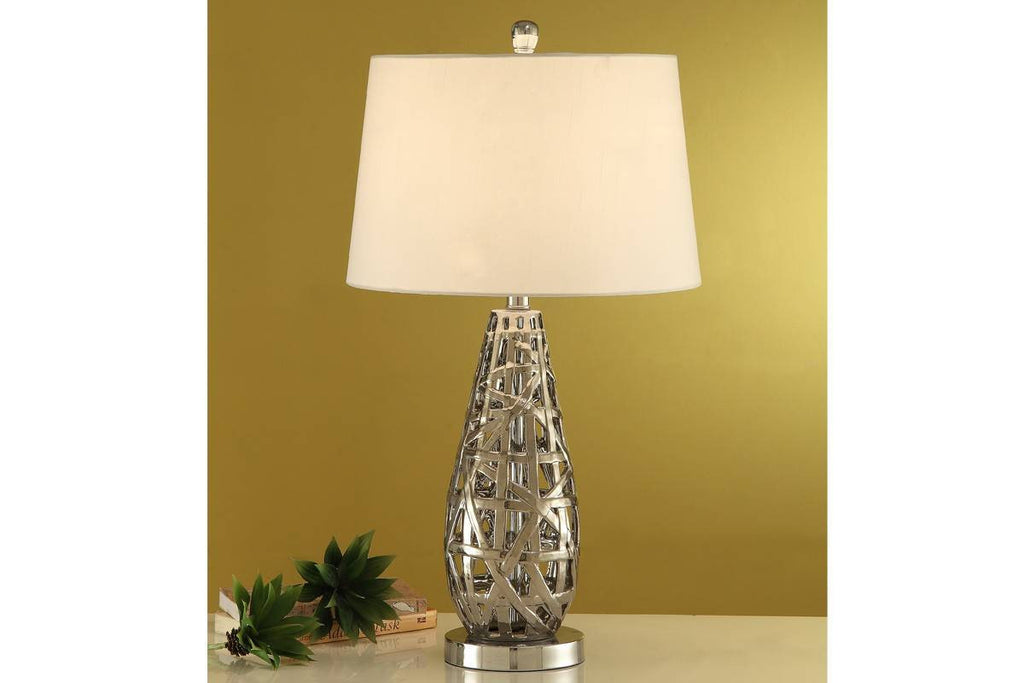 F5374 GOLDEN CERAMIC LAMP SET OF 2
