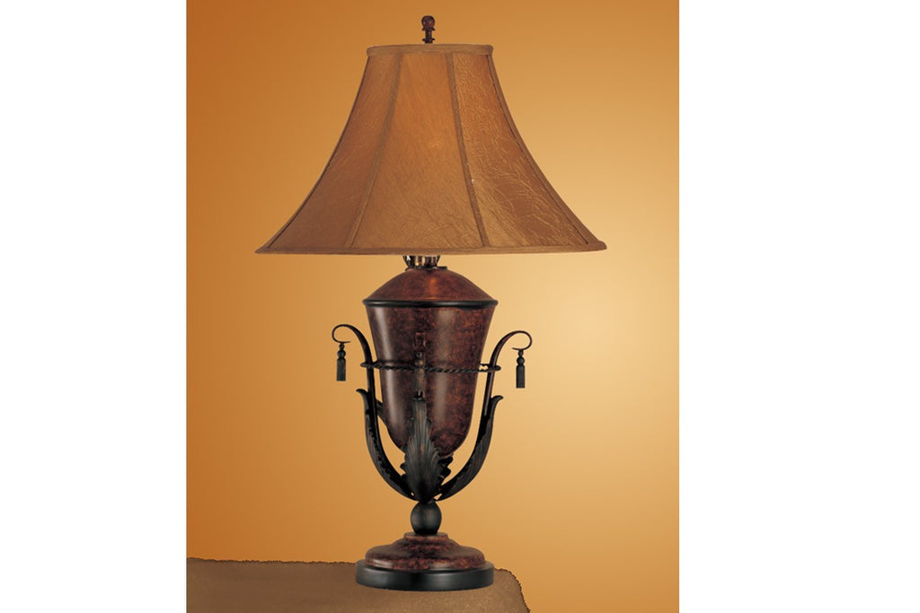 F5237 BRONZE POLYRESIN TABLE LAMP SET OF 2