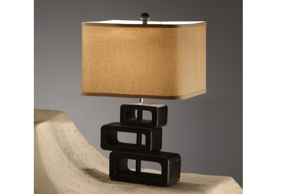 F5326 KHAKI POLYRESIN TABLE LAMP SET OF 2