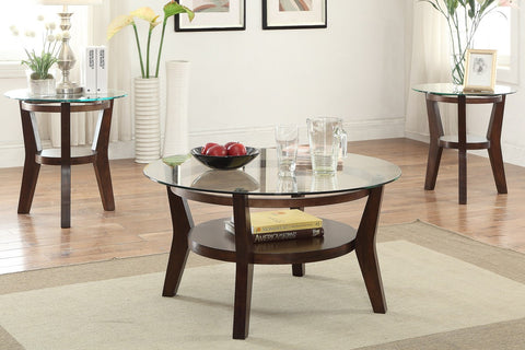 POUNDEX F3120 3-PCS COFFEE TABLE SET
