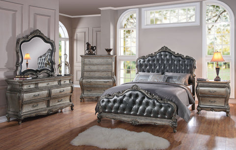 AC20540Q TRADITIONAL CHANTELLE ANTIQUE SLEIGH BEDROOM SET