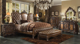 AC21094 4PCS VERSAILLES LIGHT BROWN PU BEDROOM SET