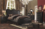 AC21214 VARADA 4PCS VINTAGE ESPRESSO DARK CHERRY BEDROOM SET