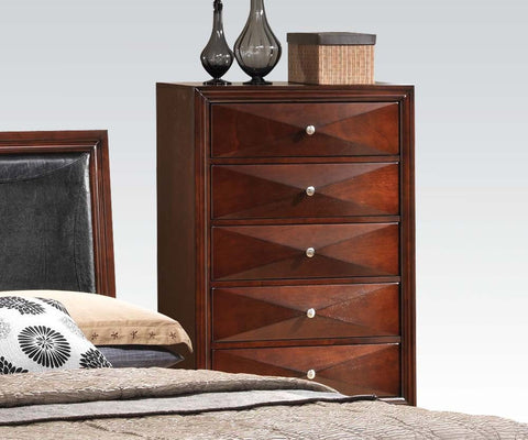 AC21926 WINDSOR CONTEMPORARY MERLOT CHEST
