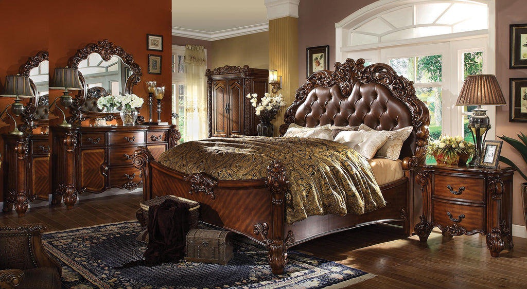 AC21994 VENDOME 4PCS CHERRY SLEIGH BEDROOM SET