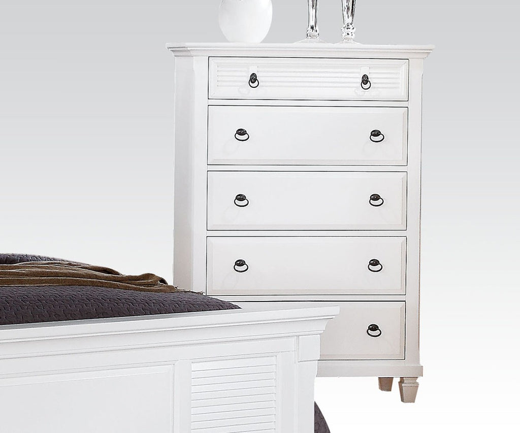 AC22426 TRANSITIONAL MERIVALE WHITE CHEST