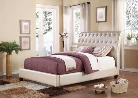 ACME 22840Q PITNEY PEARL PU QUEEN BED