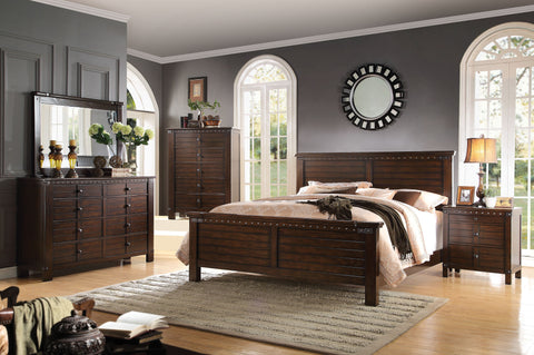 ACME 23690Q BROOKLYN 4PCS ESPRESSO QUEEN BEDROOM SET
