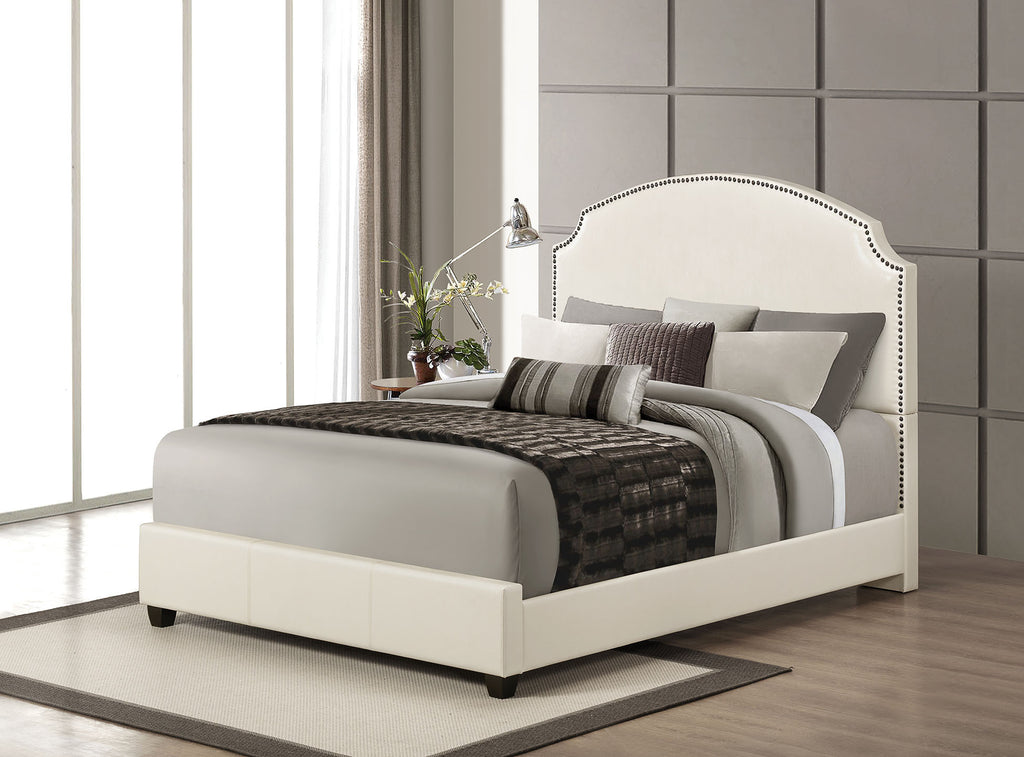ACME 24710Q KRISTINA CREAM PU QUEEN BED