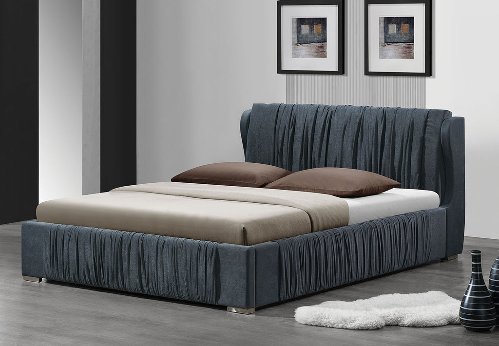 ACME 24740Q HAZLETT GRAY FABRIC QUEEN BED