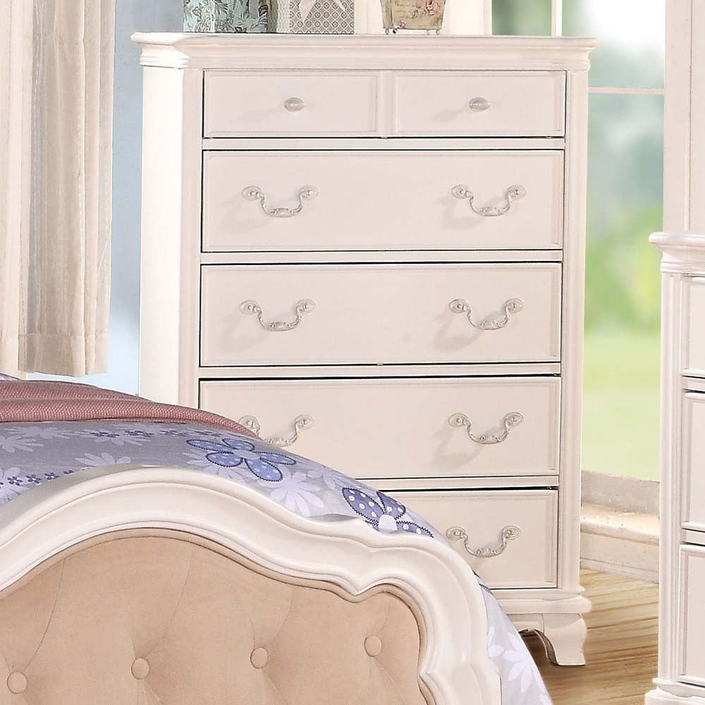 AC30151 IRA WHITE YOUTH 5-DRAWER CHEST