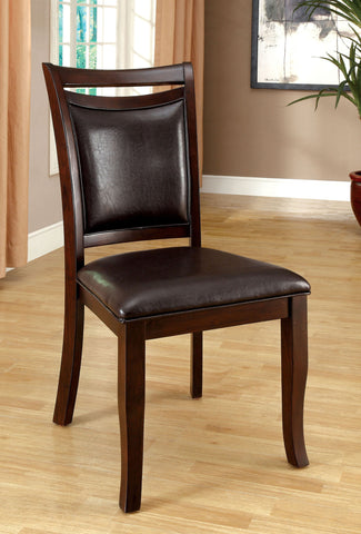 FURNITURE OF AMERICA FOA-CM3024SC WOODSIDE DARK CHERRY SIDE CHAIR SET OF 2