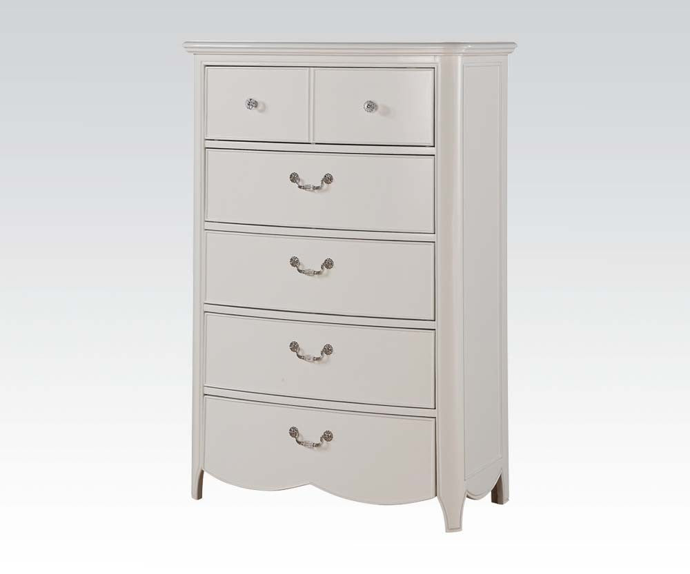 AC30326 CECILIE WHITE YOUTH 5-DRAWER CHEST