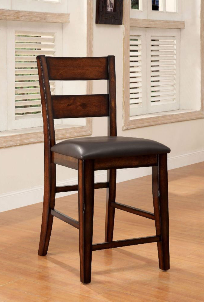 DICKINSON II FOA-CM3187PC DARK CHERRY WOOD COUNTER HEIGHT CHAIRS SET OF 2