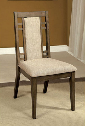 ERIS I FOA-CM3213SC TRANSITIONAL WEATHERED GRAY SIDE CHAIR SET OF 2