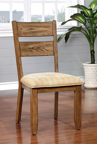 AVA FOA-CM3287SC TRANSITIONAL LIGHT OAK FINISH SIDE CHAIR SET OF 2