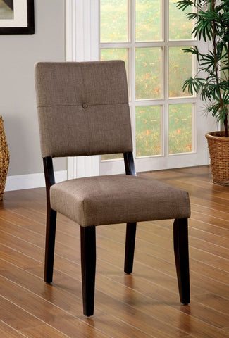 FURNITURE OF AMERICA CM3311SC BAY SIDE I ESPRESSO SIDE CHAIR SET OF 2