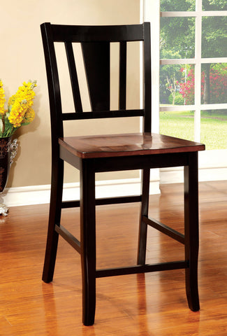 DOVER FOA-CM3326BC-PC 2PCS TRANSITIONAL BLACK CHERRY COUNTER HEIGHT CHAIRS