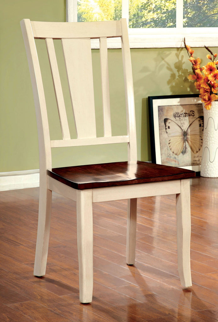DOVER FOA-CM3326WC-SC TRANSITIONAL WHITE CHERRY SIDE CHAIR SET OF 2