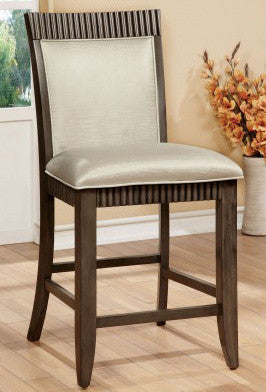FORBES II FOA-CM3435PC TRANSITIONAL GRAY COUNTER HEIGHT CHAIR SET OF 2