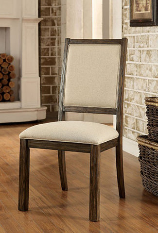 COLETTTE FOA-CM3562SC CONTEMPORARY STYLE PADDED FABRIC WOOD SIDE CHAIR