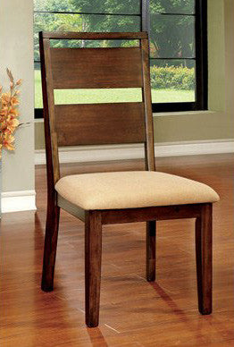 DWAYNE FOA-CM3915SC TRANSITIONAL DARK OAK FINISH SIDE CHAIRS SET OF 2