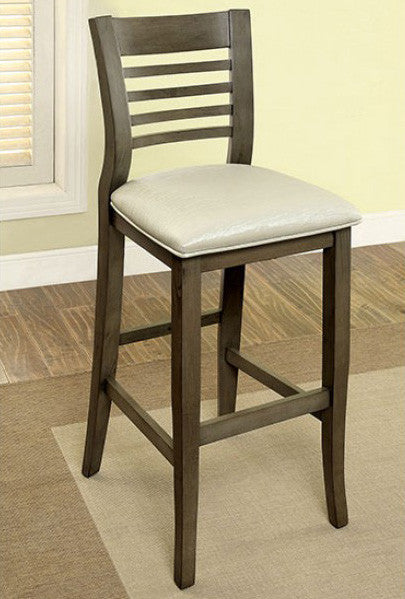 DWIGHT II FOA-CM3988GY-BC TRANSITIONAL GRAY FINISH BAR CHAIR SET OF 2