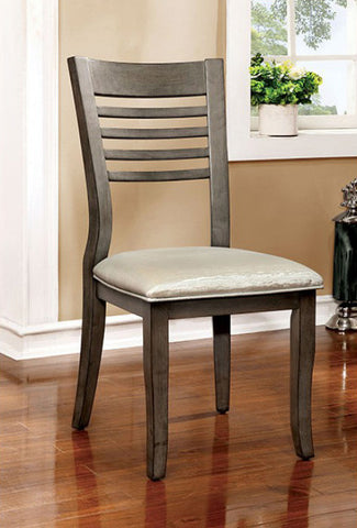 DWIGHT III FOA-CM3988GY-SC TRANSITIONAL GRAY FINISH SIDE CHAIR SET OF 2