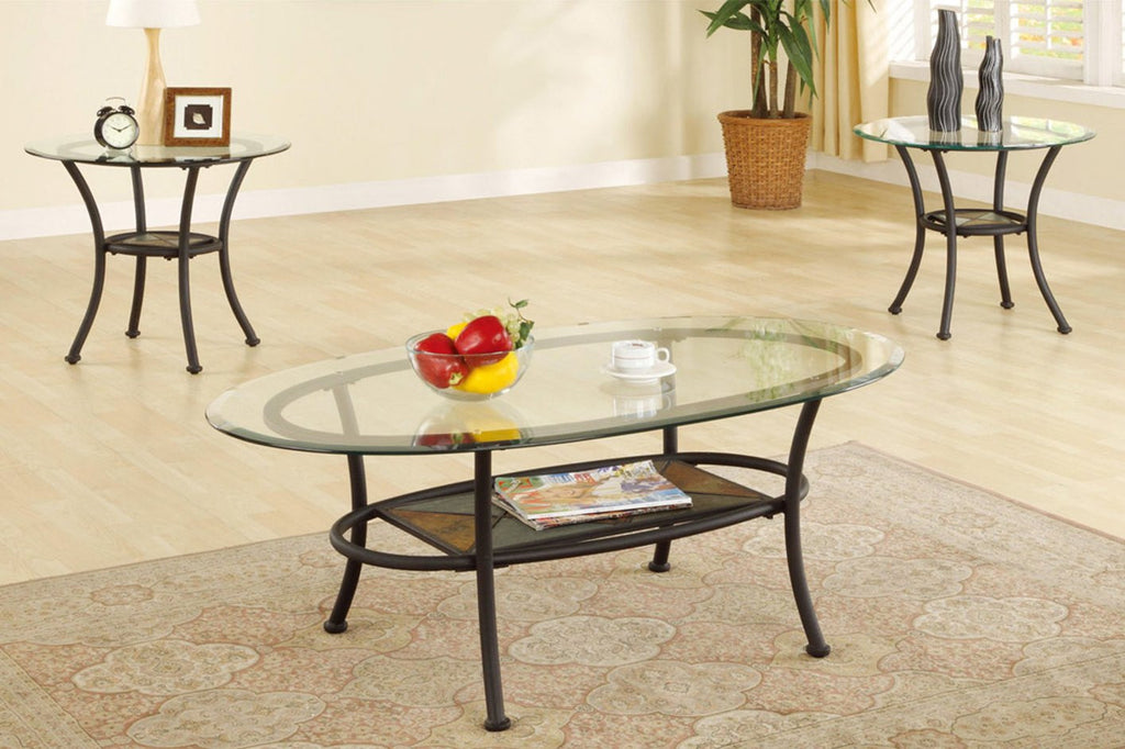 POUNDEX F3104 3 PCS COFFEE TABLE SET