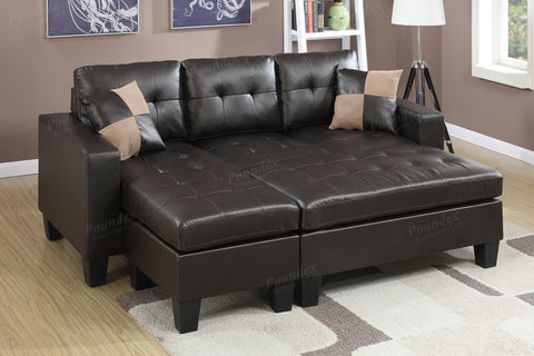 3PCS SECTIONAL WITH OTTOMAN PD6927