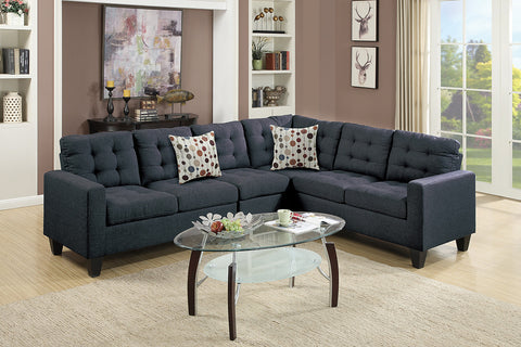 Poundex F7320 WHITE 2-PCS SECTIONAL