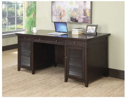 CT801097 TRANSITIONAL STYLE DARK BROWN WRITING DESK