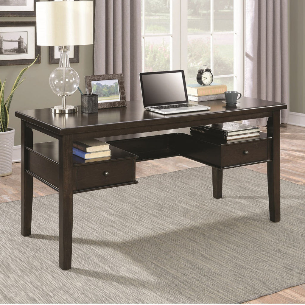CT801325 BURNISHED ESPRESSO FULL EXTENSION GLIDES WRITING DESK