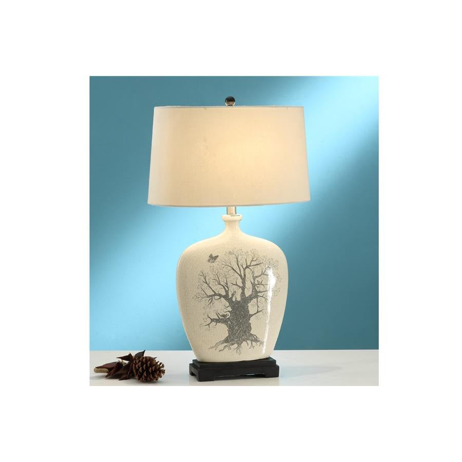 F5381 OAK POLYRESIN LAMP SET OF 2