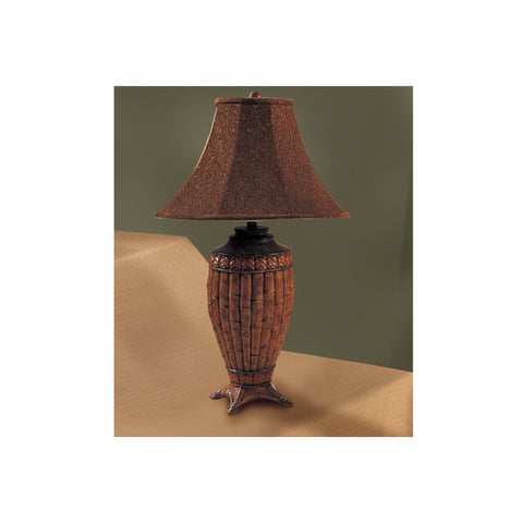 F5210 BROWN POLYRESIN LAMP SET OF 2