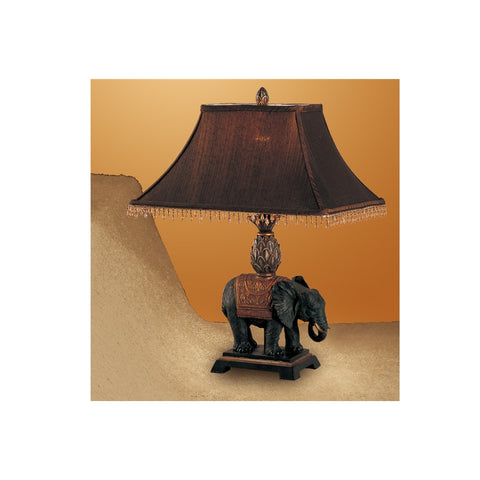 F5231 BROWN POLYRESIN TABLE LAMP SET OF 2