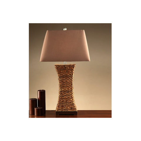F5353 BROWN POLYRESIN TABLE LAMP SET OF 2
