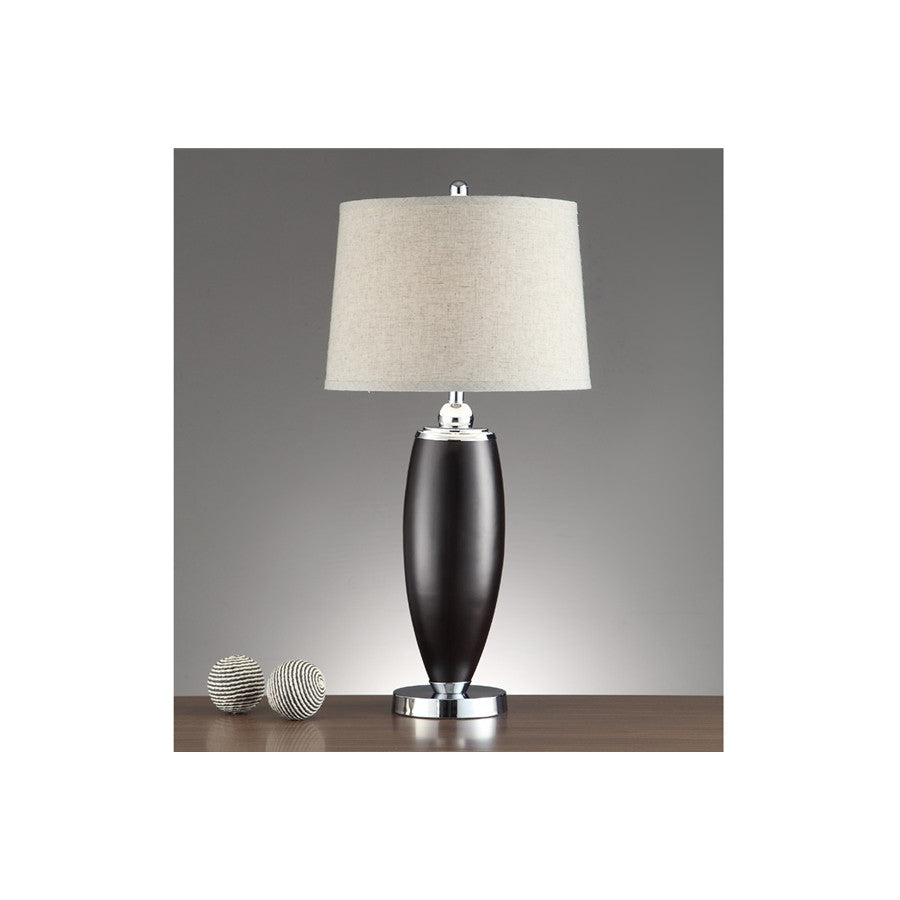 F5365 SILVER POLYRESIN TABLE LAMP SET OF 2